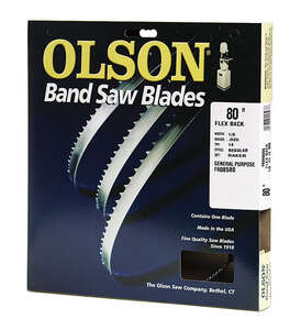 Olson  1/8 in. W x 0.025 in.  x 80  L Carbon Steel  Band Saw Blade  14 TPI Regular  1 pk
