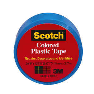 Scotch  Blue  125 in. L x 1-1/2 in. W Plastic Tape