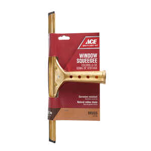 Ace  12 in. Brass  Window Squeegee