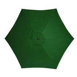 Living Accents 9 ft. Tiltable Green Market Umbrella