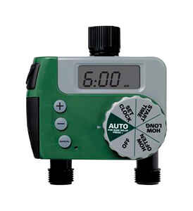 Orbit  4 Station Easy Dial Timer  Programmable 2 zone Sprinkler Timer