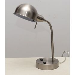 Living Accents  21.25 in. Brushed  Silver  Desk Lamp