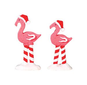Lemax  Christmas Flamingos  Porcelain Village Accessory  Multicolor  Resin  2.24 in. 2 pk