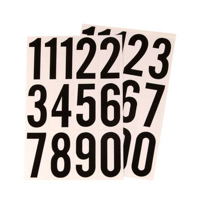 Hy-Ko 3 in. Reflective Black Vinyl Self-Adhesive Number Set 0-9 1 pc.
