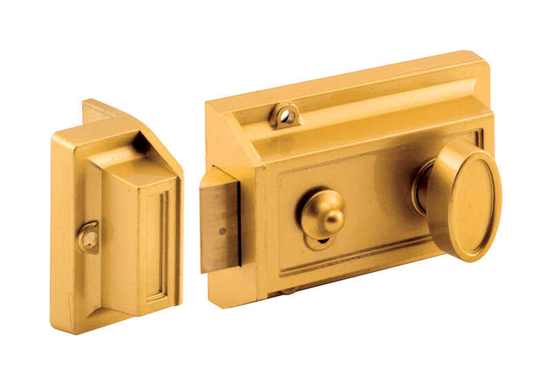 Prime-Line  Defender Security  Brushed Brass  Diecast  Night Latch