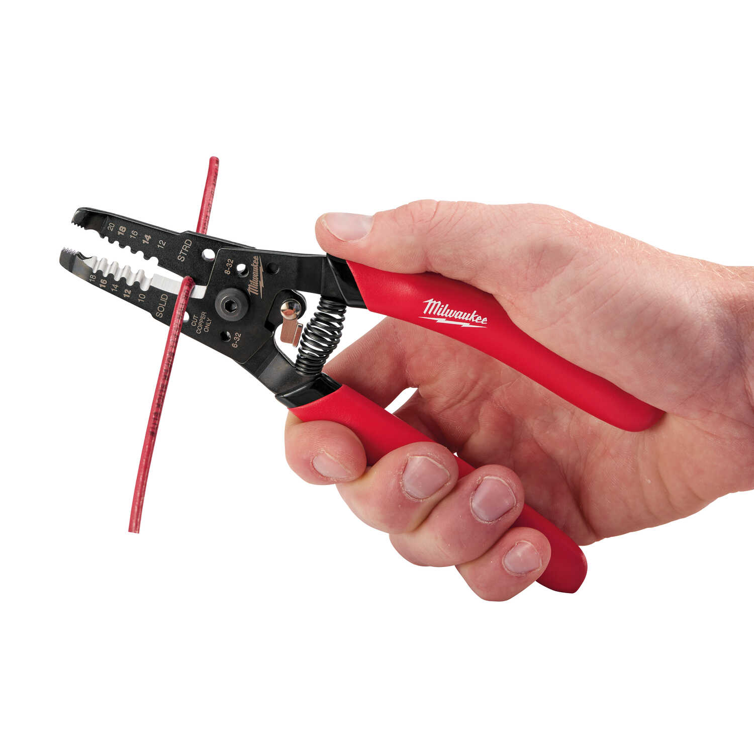 Milwaukee  7-1/8 in. Metal  Wire Stripper/Cutter/Crimper  Red  1 pk