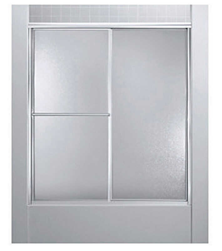 Sterling Deluxe 59 4 In W X 70 In H Framed Silver Shower