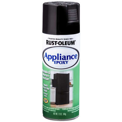 Rust-Oleum  Specialty  Gloss  Black  Oil-Based  Appliance Epoxy  12 oz.