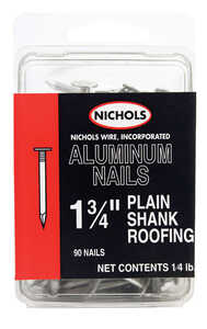 Nichols Wire  1-3/4 in. L Roofing  Aluminum  Nail  Flat Head Smooth Shank  90  1/4 lb.