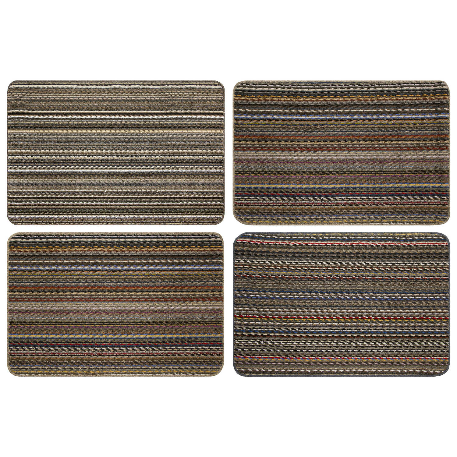 Multy Home  Montana  Multi-Colored  Polypropylene  Nonslip Floor Mat  36 in. L x 24 in. W