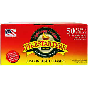 Lightning Nugget  Natural Pine  Fire Starter  50 pk