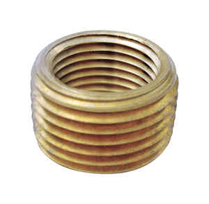 JMF  1/2 in. MPT   x 3/8 in. Dia. FPT  Yellow Brass  Pipe Face Bushing