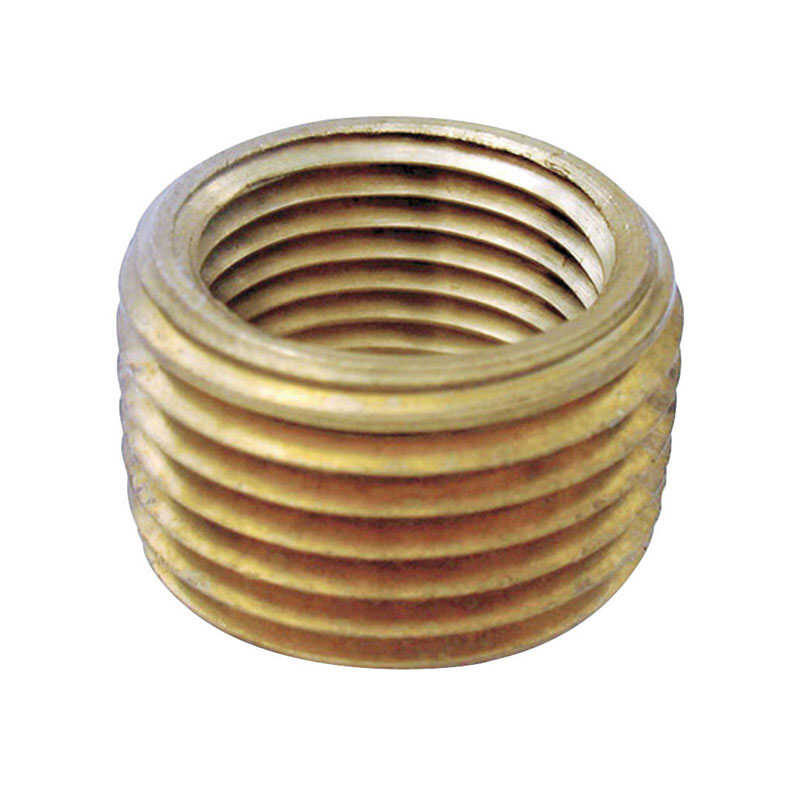 JMF  1/2 in. Dia. x 3/8 in. Dia. MPT To FPT  Yellow Brass  Pipe Face Bushing