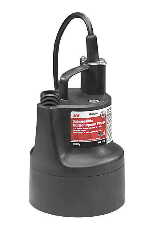 Ace  Wayne  Thermoplastic  Utility Pump  1/10 hp