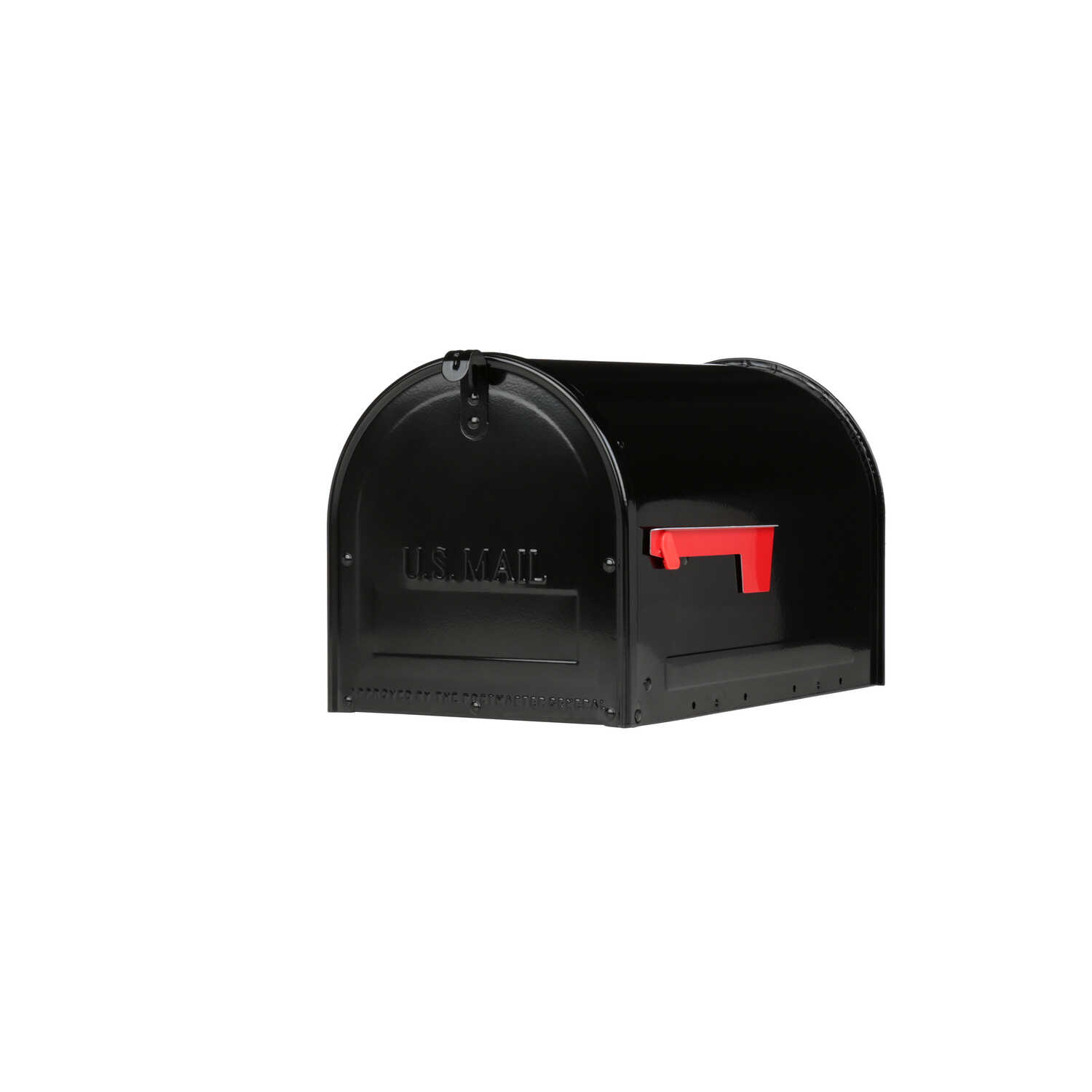 Gibraltar Mailboxes  Marshall  Galvanized Steel  Post Mounted  Black  Lockable Mailbox  11.8 in. H x