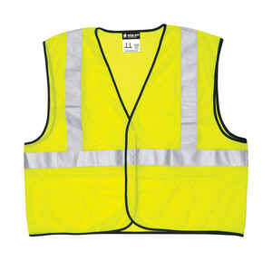 Safety Works  Reflective Polyester  Safety Vest  Fluorescent Green  XL  1 pk