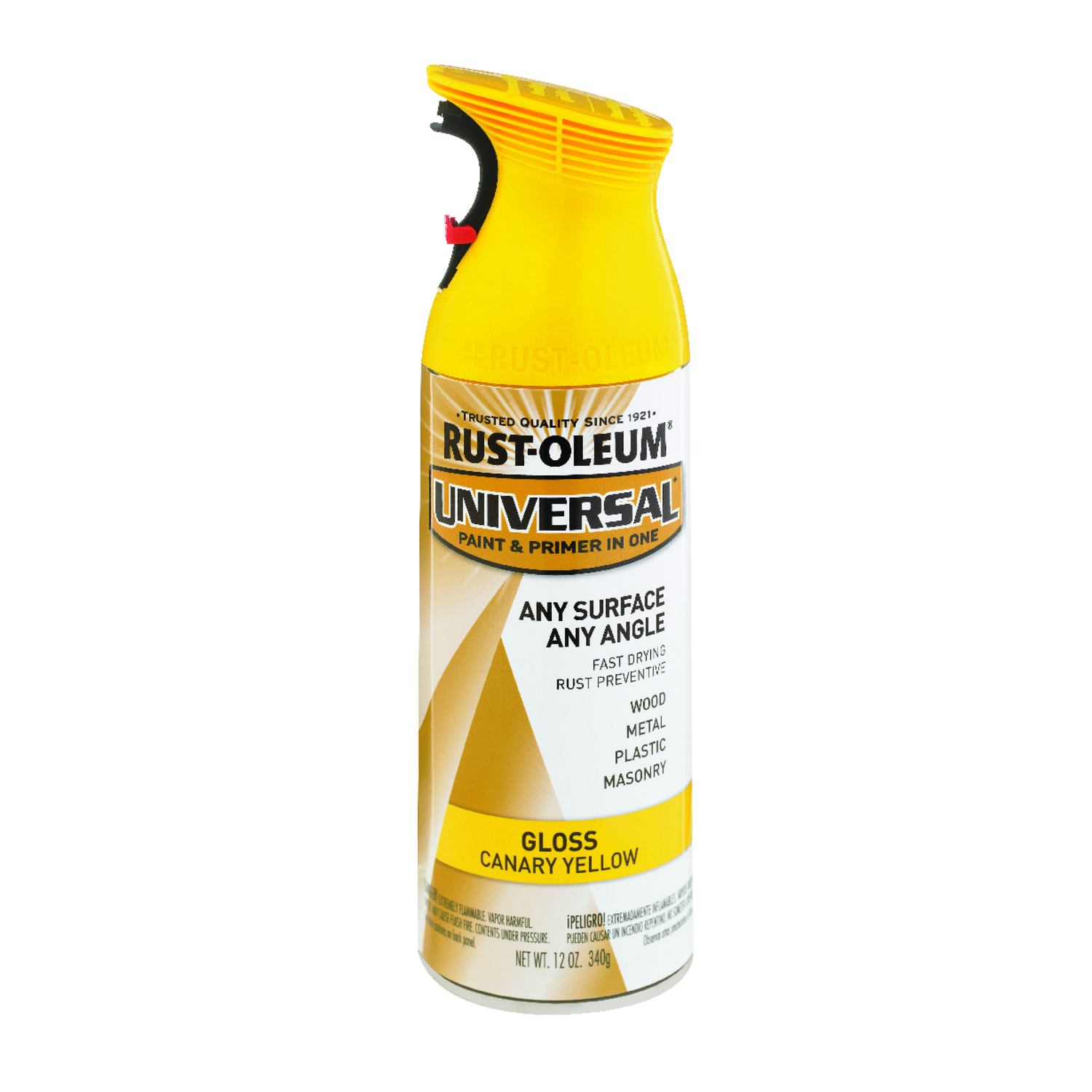 Rust-Oleum  Universal Paint & Primer in One  Gloss  Spray Paint  Canary Yellow  12 oz.