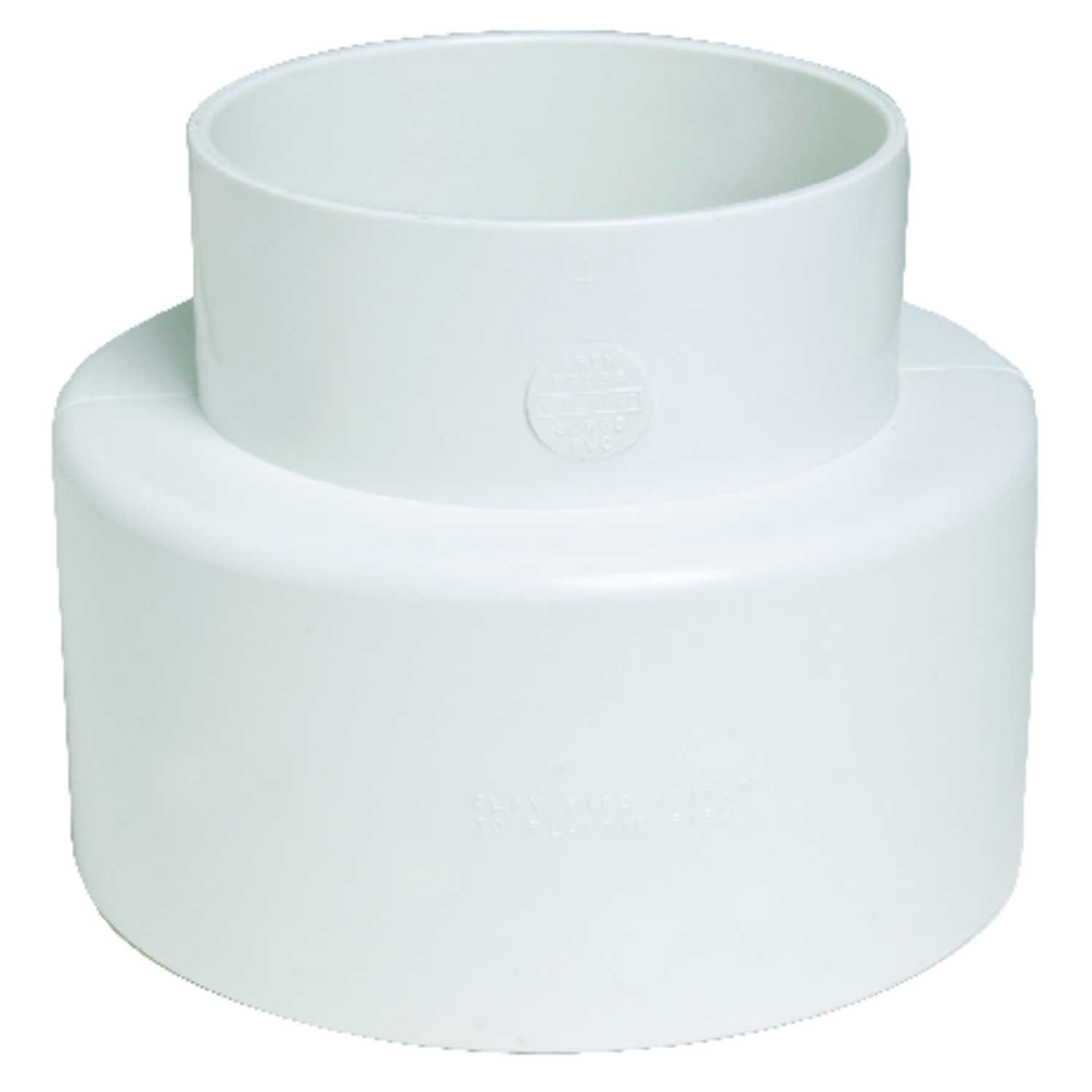 Plastic Trends  4 in. Hub   x 4 in. Dia. Hub  PVC  Pipe Adapter