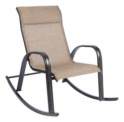 Living Accents  Dark Brown  Steel with Sling Fabric  Newport  Rocking Chair