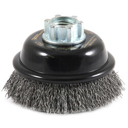 Forney  3 in. Dia. x 5/8 in.  Coarse  Steel  Crimped Wire Cup Brush  13000 rpm 1 pc.