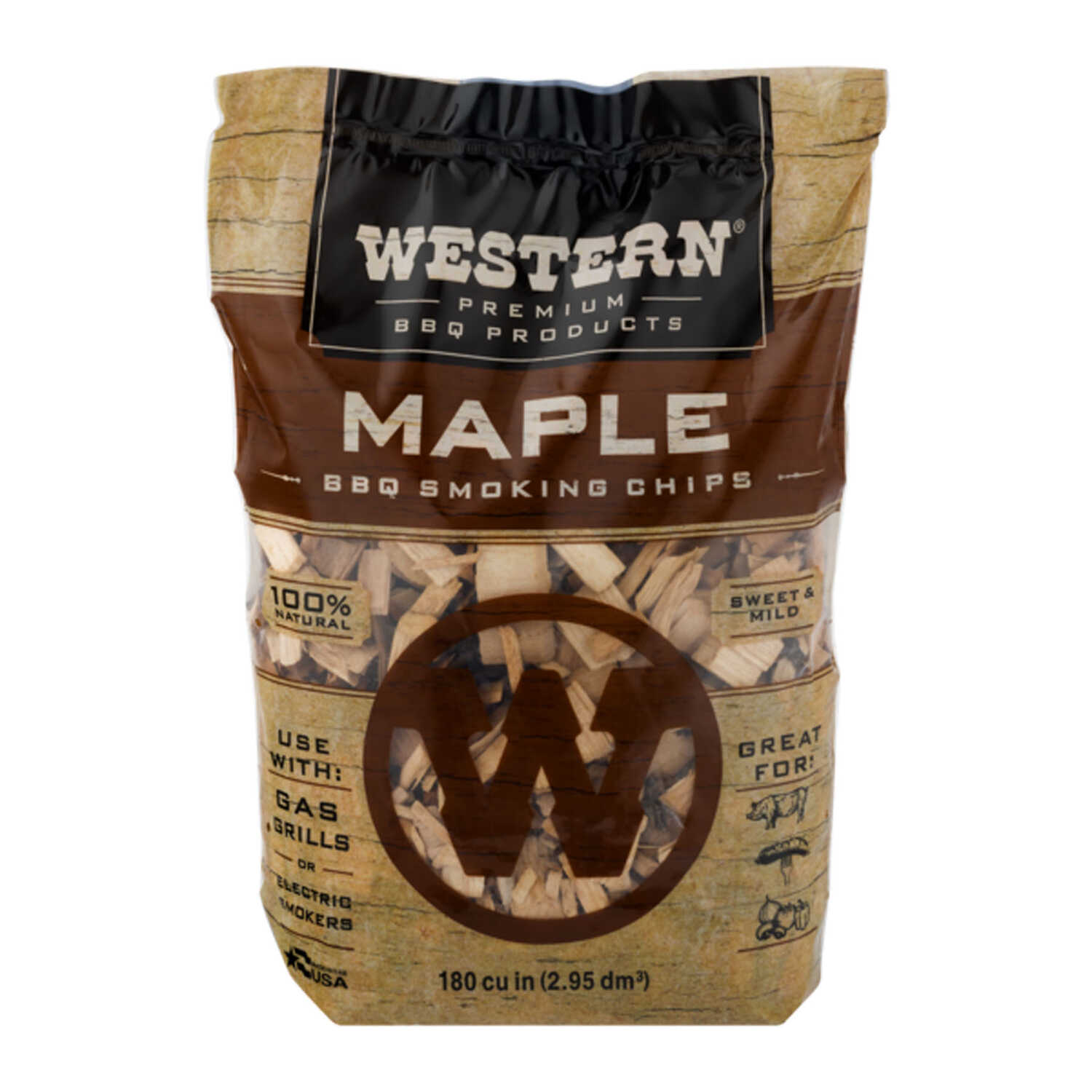 Western  Maple  Wood Smoking Chips  180 cu. in.