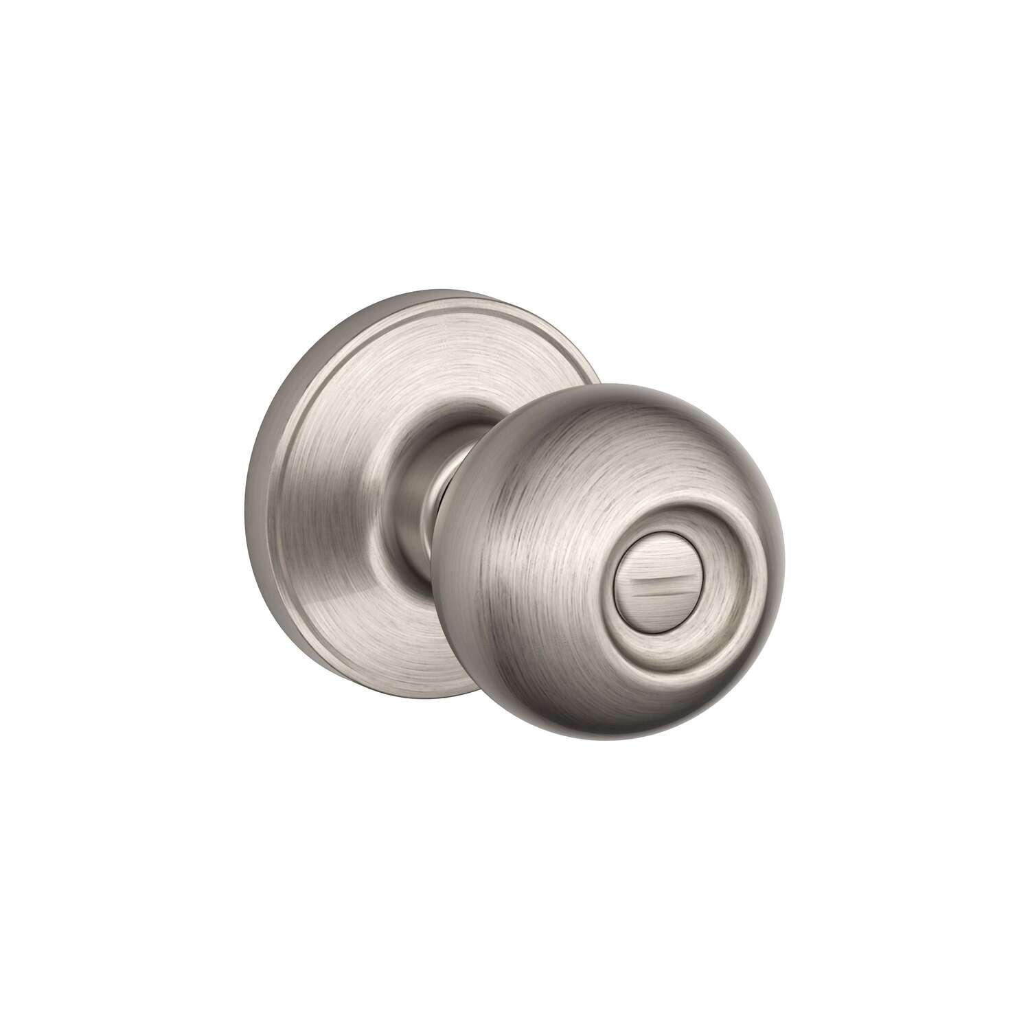 Schlage  Dexter  Corona  Satin Nickel  Brass  Privacy Knob  3  Right or Left Handed
