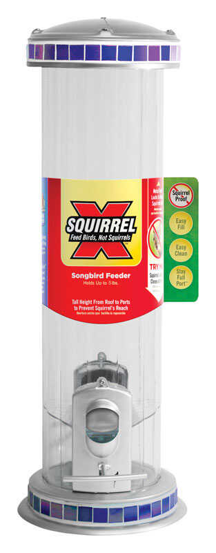 Squirrel-X  Wild Bird  5 lb. Glass  Tube  Bird Feeder  2