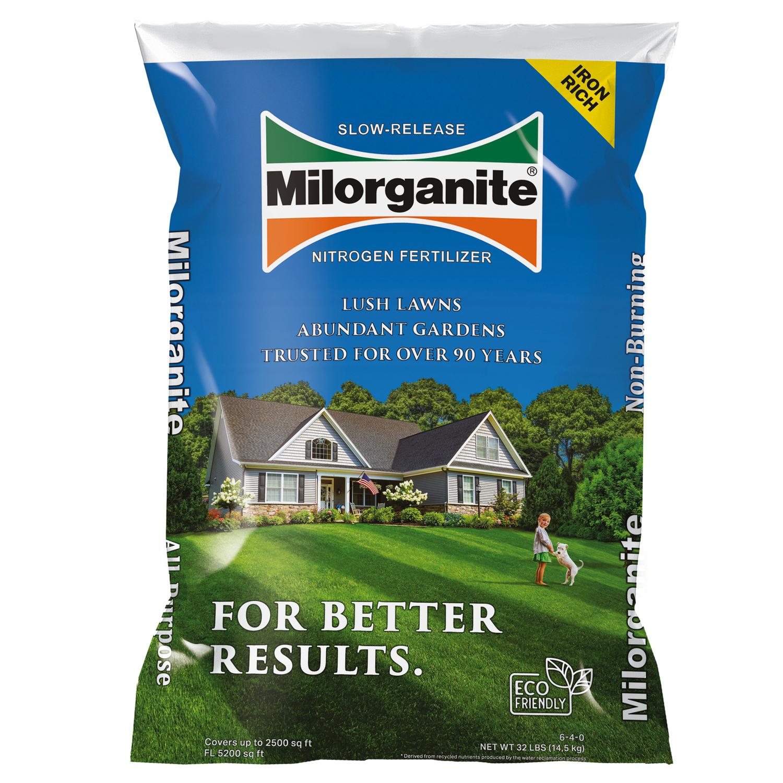 Milorganite 06-04-00 Slow-Release Nitrogen Fertilizer For All Grass ...