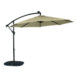 Living Accents 10 Tiltable Tan Offset Umbrella