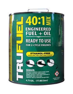 TruFuel  40:1  2 Cycle Engine  Premium Synthetic  Premixed Gas and Oil  4.75 gal.