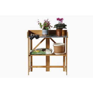 Gardien  Tan  Rectangular  Potting Table