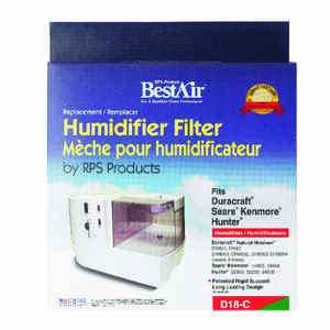 Best Air  Humidifier Filter  1 pk For Fits for Duracraft models DH831, DH4C,DH8000, 02, 03, 04, 05 A