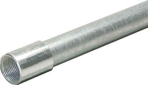 Allied Moulded  1-1/4 in. Dia. x 10 ft. L Galvanized Steel  Electrical Conduit  For IMC
