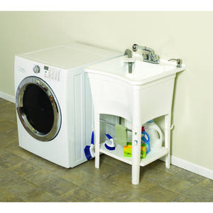 Zenith  24 in. W x 24 in. D Single  Composite  Laundry Tub