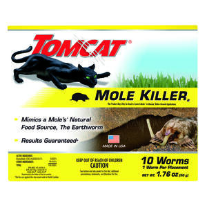 Tomcat  Bait  Worms  For Moles 10 pk