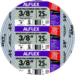 Southwire Alflex 3/8 in. Dia. x 25 ft. L Aluminium Flexible Electrical Conduit For FMC