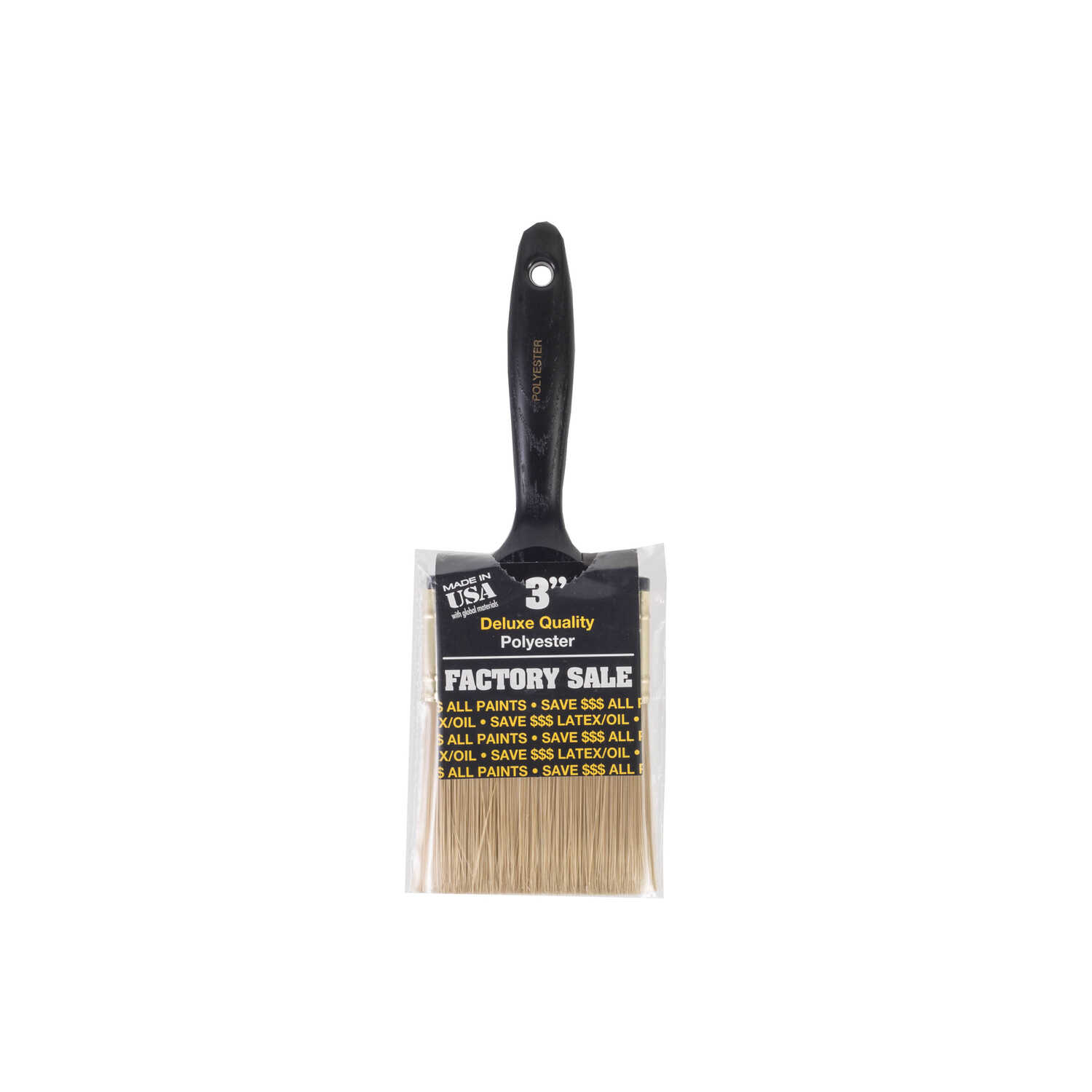Wooster  3 in. W Flat  Polyester  Paint Brush