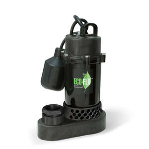 Ecoflo  1/3 hp 3600 gph Aluminium  Submersible Sump Pump