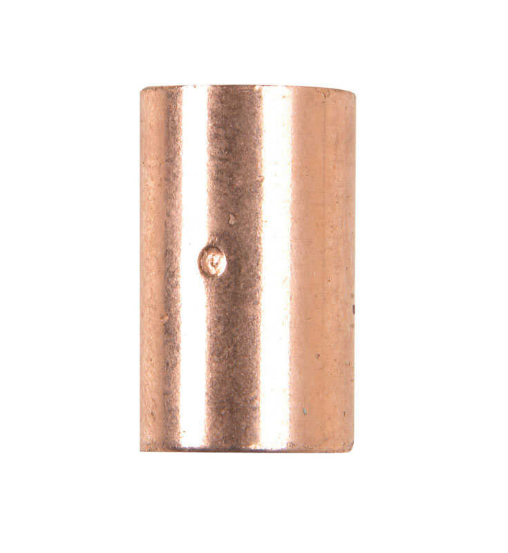 Elkhart  1/4 in. Sweat   x 1/4 in. Dia. Sweat  Copper  Coupling With Stop