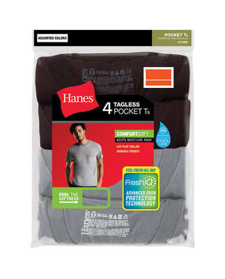 Hanes  M  Short Sleeve  Men's  Crew Neck  Assorted  Tee Shirt