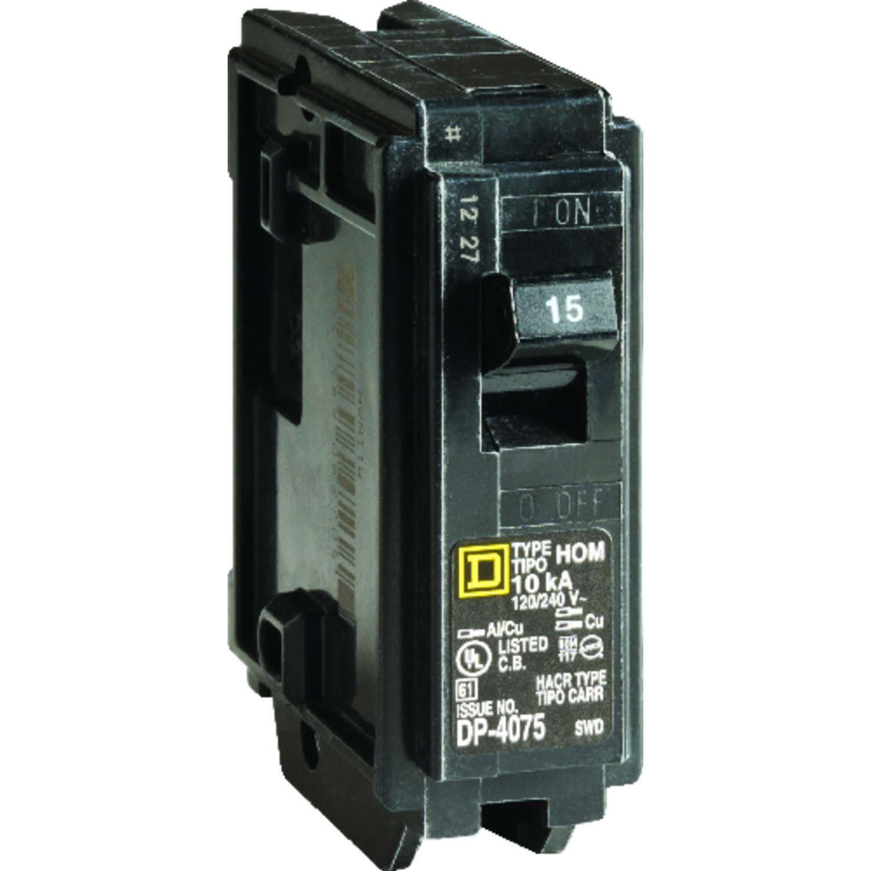 Square D HomeLine 15 amps Plug In Single Pole Circuit Breaker - Ace ...