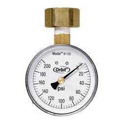 Orbit Pressure Gauge 3/4 in. 200 psi