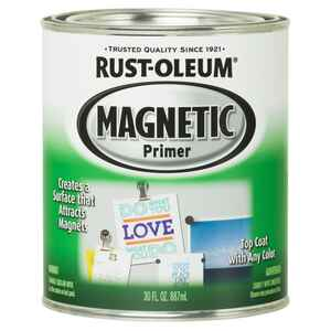 Rust-Oleum  Magnetic  Black  Primer  For All Surfaces 1 qt.