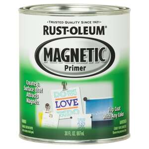 Rust-Oleum  Magnetic  Primer  1 qt. Black  For All Surfaces