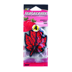 Ultra Norsk  Leaf Scents  4 pk Car Air Freshener  Strawberry