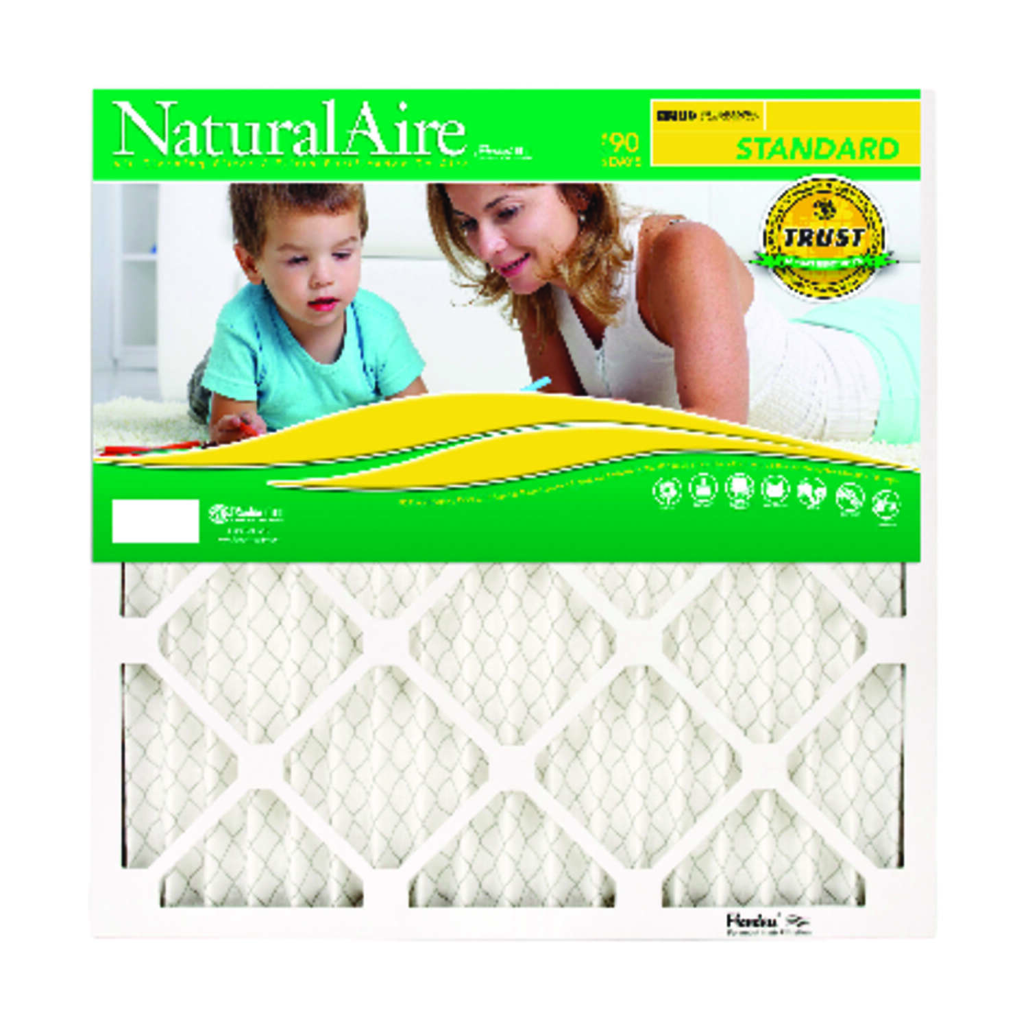 AAF Flanders  NaturalAire  21 in. W x 20 in. H x 1 in. D 8 MERV Pleated Air Filter