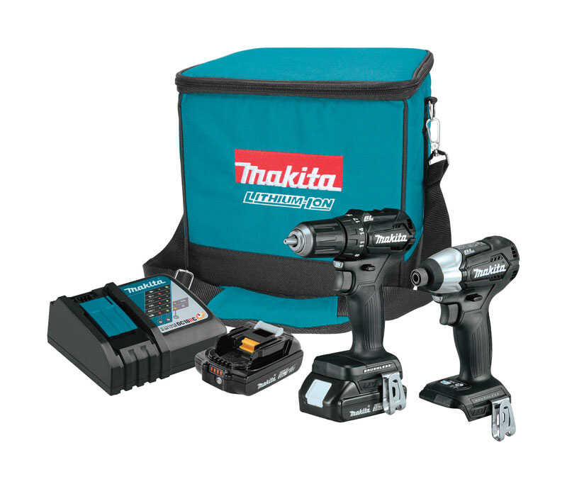 Makita  LXT Sub-Compact  Cordless  Brushless Drill/Driver and Impact Driver Combo Kit  18