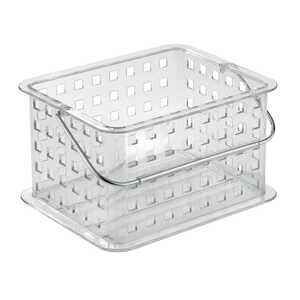 InterDesign  5 in. H x 7 in. W x 9-1/4 in. L x 9-1/4 in. L Basket  Clear