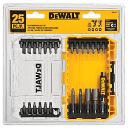 DeWalt Multi Size in. x 1 in. L Screwdriver Bit 25 pc.