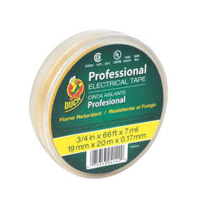 Duck Brand  3/4 in. W x 66 ft. L Yellow  Vinyl  Electrical Tape